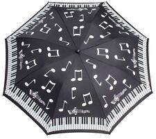 Clifton touches du piano note de musique noir et blanc clavier compact pliant parapluie