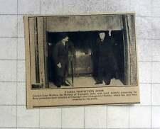 1940 Capt Euan Wallis Inspecting Flood Protection Door Charing Cross Underground