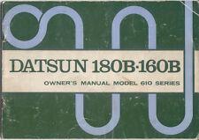 Datsun Nissan Bluebird 610 Series 160B 180B Original Owners Handbook 1972-74