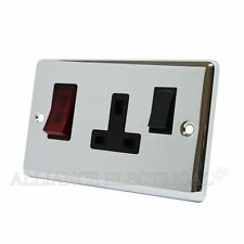 Polished Chrome Classical 45A Cooker Control Unit with Neon CPCCC1NBL