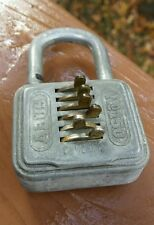 Mid Century ABUS COMBI Combination No 150 Lock Germany Circa1950 Works Great