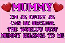 I'm Glück Als Kann Worlds Best Mami Gehört To Me Laminiert Schild Mutter Day