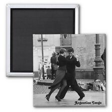 "Square Magnet 2"" x 2"" – Standard Size - Argentine Tango. NEW"