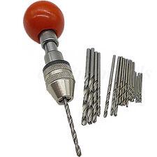 25pcs Mini Micro Small Drill Bit Model Craft Twist Drill Bit W/ Hand Drill Chuck