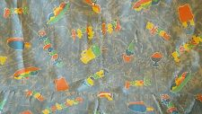 2 yards vintage fabric ice cream motif theme flavors sewing quilting crafts