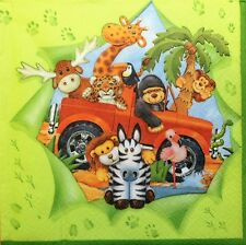 4 X   Paper Napkins Decoupage Crafting Table fanny animals   205