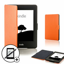 Leder Orange Intelligente Hülle für Amazon Kindle Paperwhite 2015 +