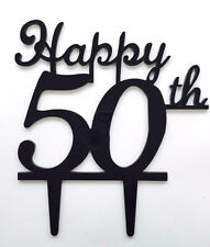 Happy 50th Birthday Anniversary Number Cake Topper Party Decoration Favor Sign