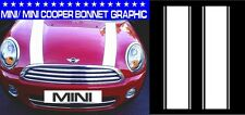 MINI/ MINI ONE/ MINI COOPER BONNET STRIPES CAR VINYL GRAPHICS/ DECALS STICKERS