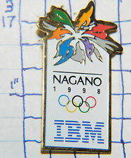 OLYMPICS NAGANO JAPAN 1998 IBM SPONSOR SOUVENIR METAL HAT LAPEL PIN