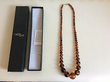 Tendence Glass Jewellery Toffee Rod Bead Necklace. Never Worn. New