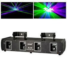 Shinp 4Lens Green Purple 460mW DMX Stage Laser Lighting Light For DJ Party Club