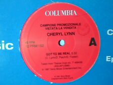 """CHERYL LYNN Got to be real MICHAEL ZAGER BAND Let's all chant 12"""" ITALY PR0M0"""