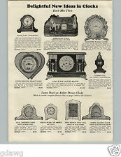 1928 PAPER AD Desk Thermometer Thermo Dial Paperweight Cupid's Heartbeat Clock