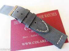 Cinturino pelle vintage ColaReb VENEZIA grigio 18mm watch band strap Italy