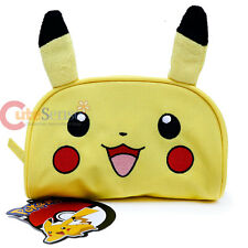 Pokemon Pikachu Cosmetic Pouch Pencil Case with Plush Ear Travel accessories Bag