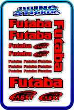 FUTABA SERVO RADIO RX TX 2.4G FLIGHT REMOTE CONTROL STICKERS FASST RED BLACK