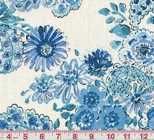 PK Lifestyles Blissful Bouquet Blueberry Floral Print Drapery Fabric
