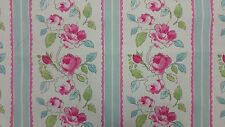 Clarke and Clarke Hetty Duck Egg Designer Curtain Craft Upholstery Fabric