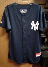 NEW YORK YANKEES AUTHENTIC MLB BASEBALL MAJESTIC COOL BASE JERSEY YOUTH L NEW