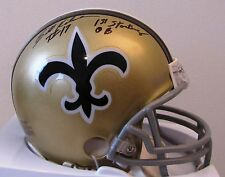 Billy Kilmer Signed New Orleans Saints Mini helmet - 1st Starting QB Inscription