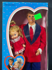 **NIB  DOLLS 1986 THE HEART FAMILY KISS & CUDDLE DAD AND BABY GIRL