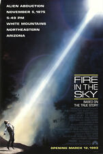 Fire in the Sky 1993 Original Movie Poster Biography Drama Mystery