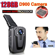 Professional Mini 128GB Body Worn Pocket Video Police Camera Night Vision D900