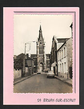 BRUAY-sur-L'ESCAUT (59) CITROEN AMI 8 & PEUGEOT 404 au COMMERCE & à l'EGLISE