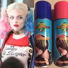 Pink Blue Hairspray Colour 2 Cans Tins Harley Quinn Suicide Squad Hair Wig