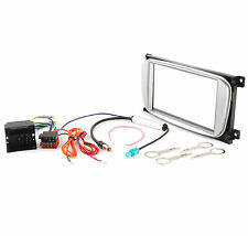 2din radio diafragma set Ford Focus Kuga Connect a partir de 2007 adaptadores cable, plata