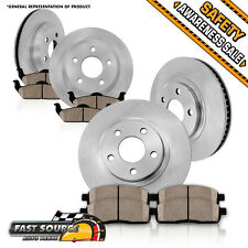 Front Rear Rotors Ceramic Pad CHEVY S10 BLAZER PICKUP ENVOY SONOMA JIMMY BRAVADA
