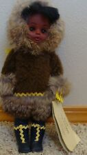 "Vintage INUIT The People ALASKAN ESKIMO DOLL Made 1988 By Carlson Dolls Co, 11""H"