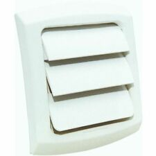 "DRYER VENT COVER  LOUVERED FITS 4"" VENT PIPE WHITE/PAINTABLE"