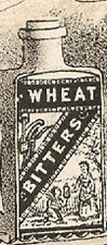 1880's WHEAT BITTERS TRADE CARD, BRAIN FOOD, FAIRIES, DOG CART, FREE SHIP, TC436
