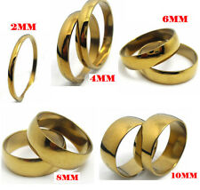 100 Mix 2/4/6/8/10mm Gold Polish stainless steel Wedding Rings Wholesale Jewelry