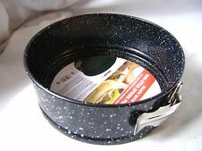 "NEW NON-STICK SPRINGFORM ROUND CAKE TIN PAN BAKING 7""/18cm BLACK WHITE DOT PRIMA"