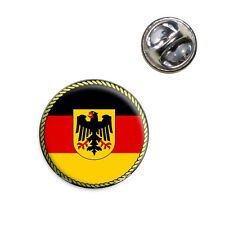 Flag of Germany with Crest Lapel Hat Tie Pin Tack