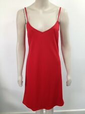 BHS - Red Strappy Classic Dress Sweetheart Neckline Uk 12 (P297)