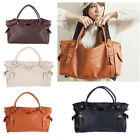 New Korean Women Ladies PU Leather Handbag Big Capacity Shoulder Bag Tote Hobo