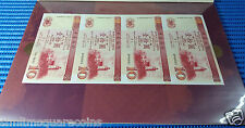 Macau 10 Patacas Note 2X 4 pcs Uncut Commemorative Note by Bank of China & BNU
