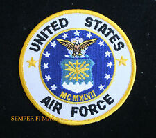US AIR FORCE SEAL LOGO PATCH USAF VETERAN GIFT PIN UP AFB EAGLE WING VET WOW