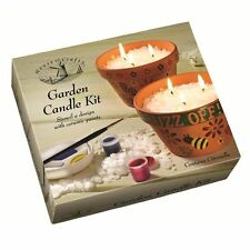 House Of Crafts Garden Candle Kit Anti Wasp Citronella Wax & Ceramic Paint HC550
