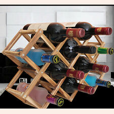 Wood Wine Bottle Holder Rack Storage Shelf Organizer Cabinet Stand Bar Table #P