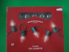 CHRISTMAS STRING LIGHTS VINTAGE STYLE CLEAR 25 LIGHTS C9 INDOOR/OUTDOOR TARGET