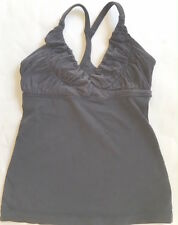 LULULEMON Pure Balance Tank Top Solid Black size 4 Yoga Gym Flattering Sexy  EUC