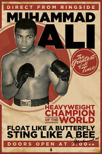 MUHAMMAD ALI VINTAGE 24x36 poster SONNY LISTON BOXING CHAMPION ICON CASSIUS CLAY