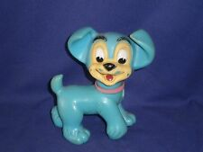 Vintage Disney Lady & The Tramp Scamp Hard Rubber Toy Figure 5½in Japan c1950s