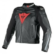 Dainese Superfast Leather Jacket - Blk/Gun/Orange - Size 44 (Euro 54) - £299.99