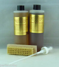 LEATHERIQUE LEATHER REJUVENATOR OIL PRESTINE CLEAN 16OZ PUMP SPRAY TAMPICO BRUSH